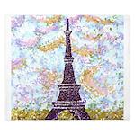 Eiffel Tower Pointillism by Kristie King Duvet