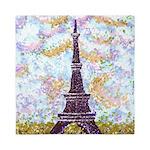 Eiffel Tower Pointillism by Kristie Queen Duvet