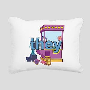 they Rectangular Canvas Pillow