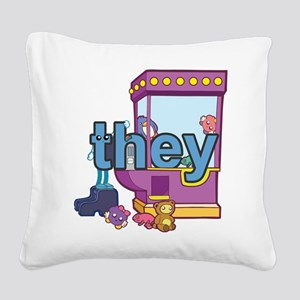 they Square Canvas Pillow