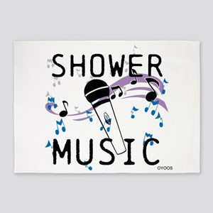 OYOOS Shower Music design 5'x7'Area Rug