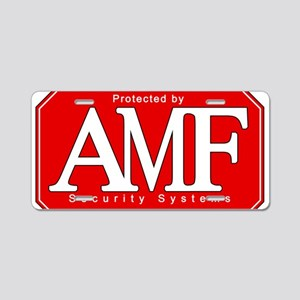 AMF Security 2 Aluminum License Plate