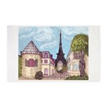 Paris Inspired Cityscape Big 051610 With Area Rug
