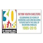 Seton 30th Anniversary Sticker
