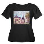 ParisCityscapePointillism021511 Plus Size T-Sh