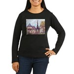 ParisCityscapePointillism021511 Long Sleeve T-