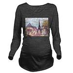 ParisCityscapePointillism021511 Long Sleeve Ma