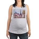 ParisCityscapePointillism021511 Maternity Tank