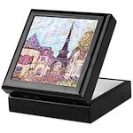 ParisCityscapePointillism021511 Keepsake Box