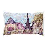 ParisCityscapePointillism021511 Pillow Case