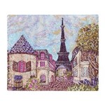 ParisCityscapePointillism021511 Throw Blanket