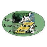 Agility Fun! Oval Sticker