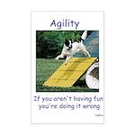 Agility Fun! Mini Poster Print