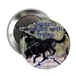 Success Dog Art Button
