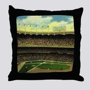Vintage Sports Baseball Throw Pillow