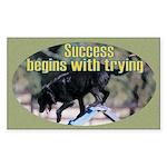 Success Dog Art Rectangle Sticker