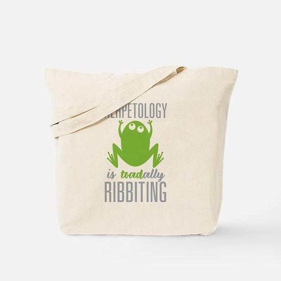 Herpetology Ribbiting Tote Bag