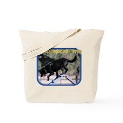 Success Dog Art Tote Bag