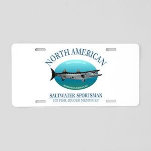 NASM (barracuda) Aluminum License Plate