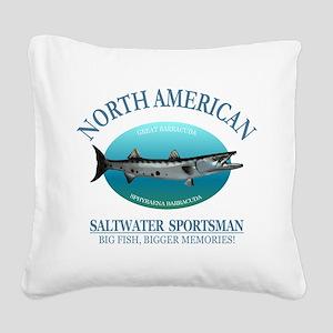 NASM (barracuda) Square Canvas Pillow