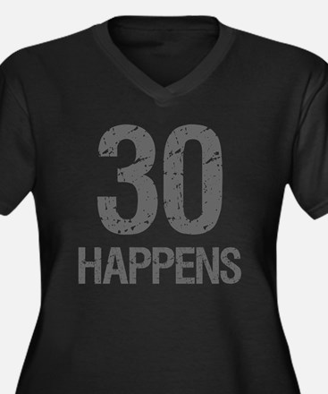30th Birthda Women's Plus Size V-Neck Dark T-Shirt