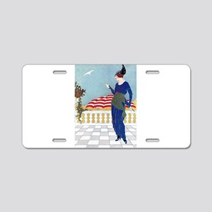 VOGUE - A Day At The Beach Aluminum License Plate