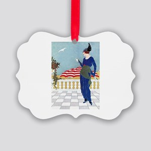 VOGUE - A Day At The Beach Picture Ornament