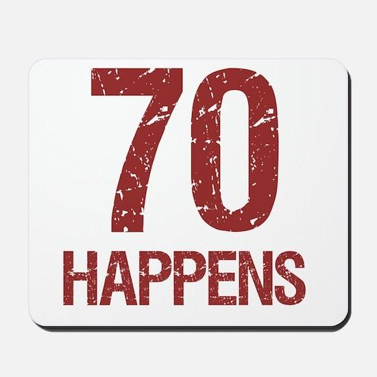 70th Birthday Humor Mousepad