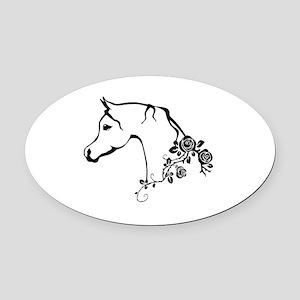 Arabian horse Oval Car Magnet