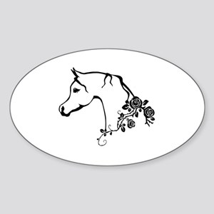Arabian horse Sticker (Oval)