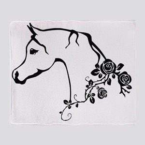 Arabian horse Throw Blanket