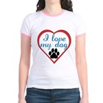 I Love My Dog Jr. Ringer T-Shirt
