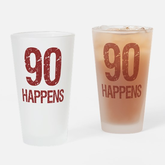 90th Birthday Humor Drinking Glass