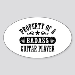 Property of a Badass Guitar Player Sticker (Oval)