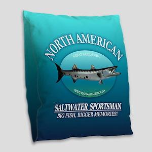 Nasm (barracuda) Burlap Throw Pillow