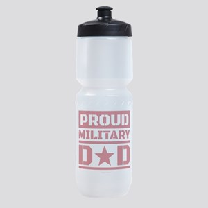 Proud Military Dad Sports Bottle