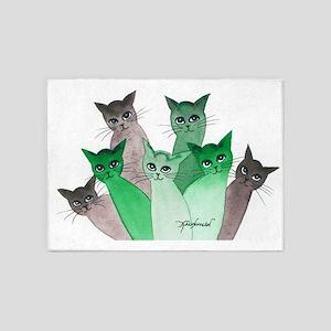 Deschutes Stray Cats 5'x7'Area Rug