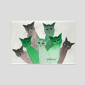 Deschutes Stray Cats Rectangle Magnet
