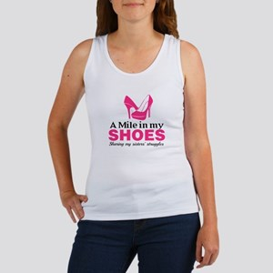 Quote Pink White Tank Top