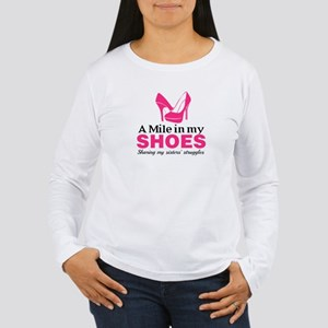 Quote Pink White Long Sleeve T-Shirt