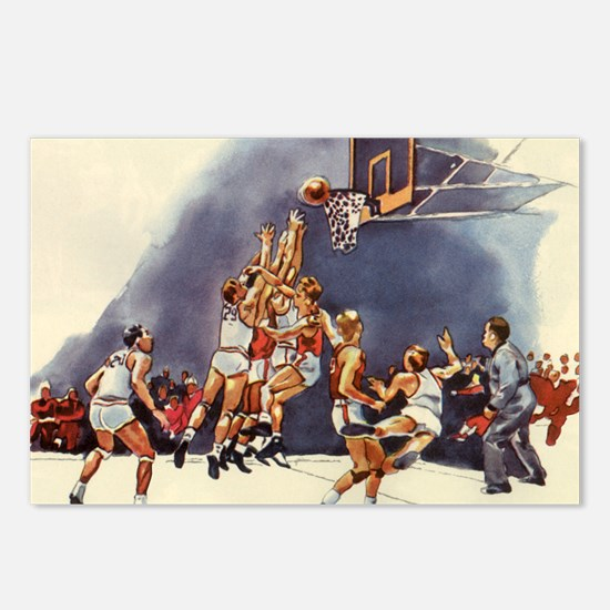 Vintage Sports Basketball Postcards (Package of 8)