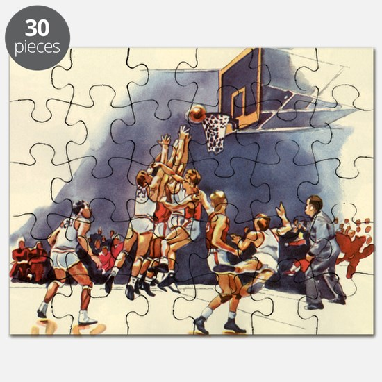 Vintage Sports Basketball Puzzle