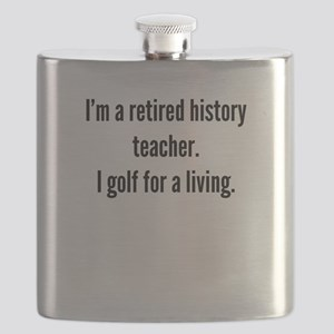 Retired History Teacher Golfer Flask