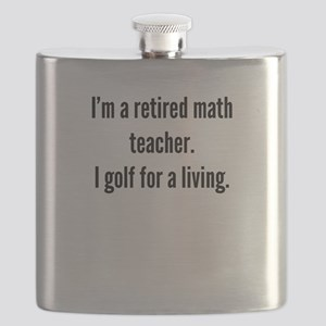 Retired Math Teacher Golfer Flask