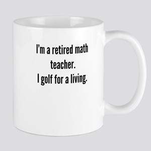 Retired Math Teacher Golfer Mugs