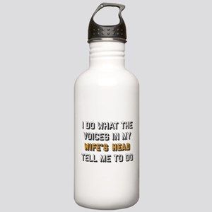 I Do What The Voices I Stainless Water Bottle 1.0L
