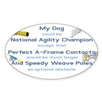 Agility Almost Brag Oval Sticker