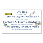 Agility Almost Brag Rectangle Sticker