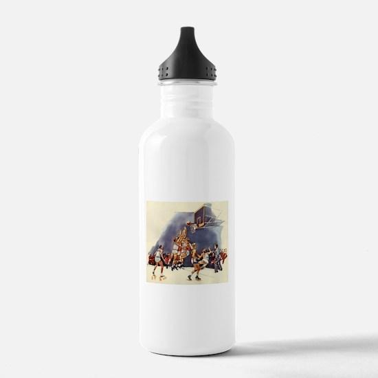 Vintage Sports Basketb Water Bottle