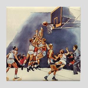 Vintage Sports Basketball Tile Coaster